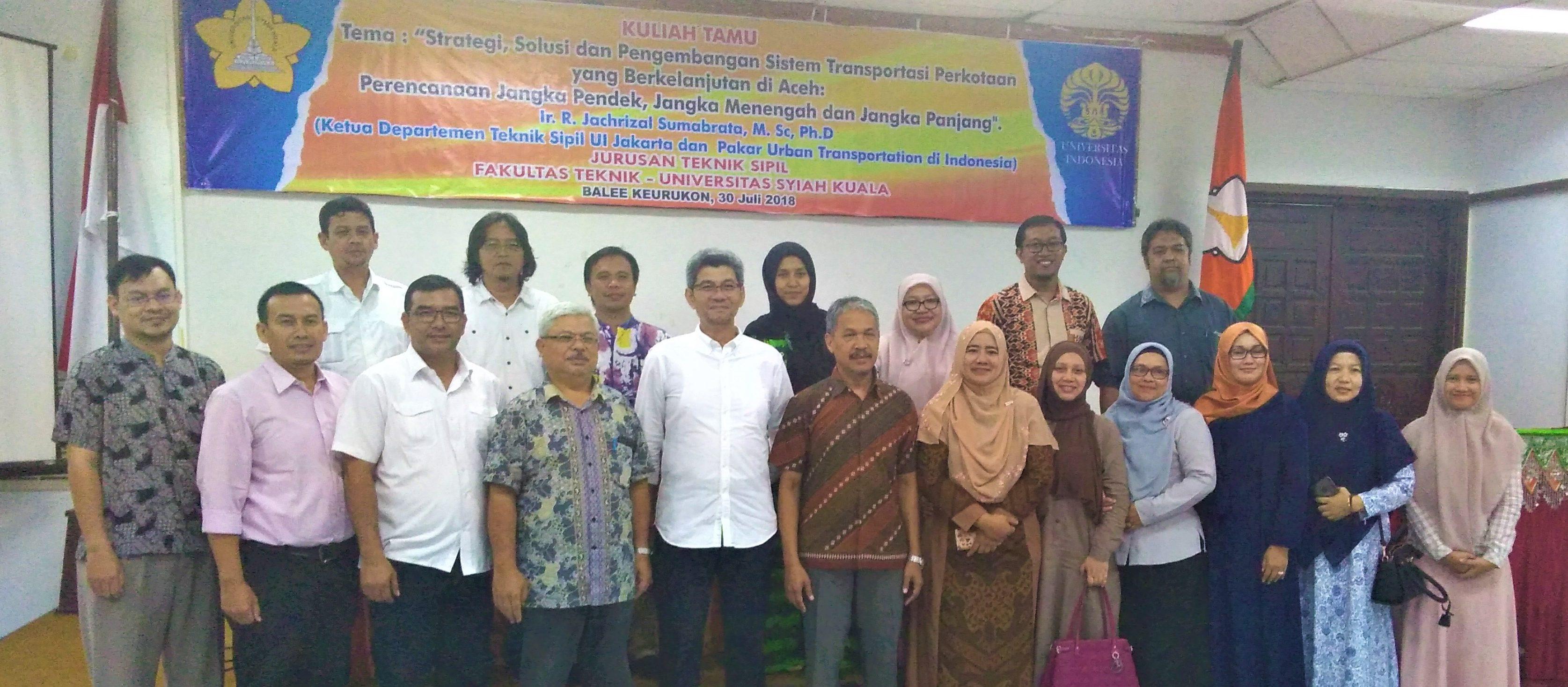 Kuliah Tamu Bersama Pakar Urban Transportation Indonesia 30 Juli 2018