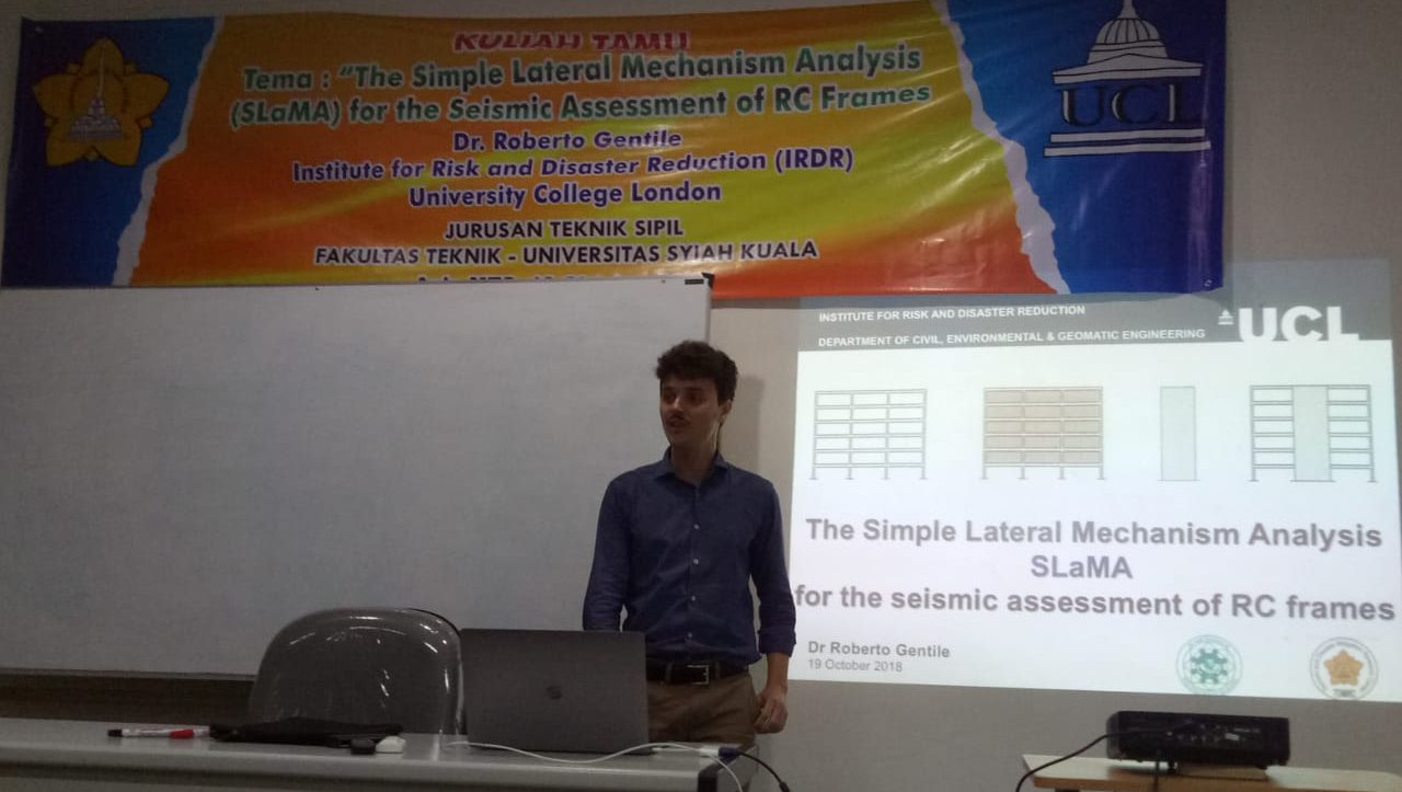 Kuliah Tamu dari Dr. Roberto Gentile : The Simple Lateral Mechanism Analysis (SLaMA) for The Seismic Assessment of RC Frames